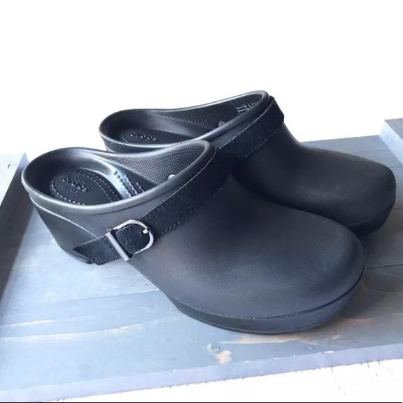 a1e3941c4004 CROCS Shoes - Crocs Dual Comfort Clogs Black Slip On Mule Size 7